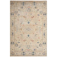 Hand-Knotted Oriental White Area Rug (9' X 12')