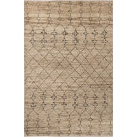 Nikki Chu Lapins Natural Trellis Tan/ Black Area Rug (9' X 12') - 9' x 12'