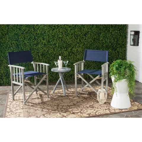 Safavieh Outdoor Living Laguna Navy Director Chair (Set of 2)