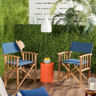 Safavieh Laguna Outdoor Blue Director Chair (Set of 2)