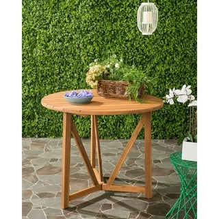 Safavieh Cloverdale Outdoor Teak Round Table