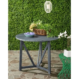 Safavieh Cloverdale Outdoor Ash Grey Round Table
