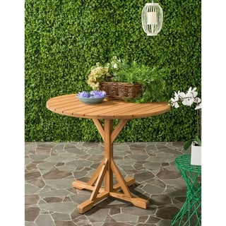 Safavieh Arcata Outdoor Teak Round Table