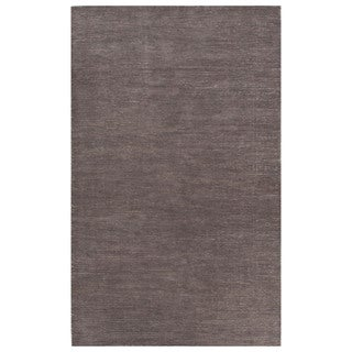 Solids Solids & Heather Pattern Gray Wool and Cotton Area Rug (8x10)