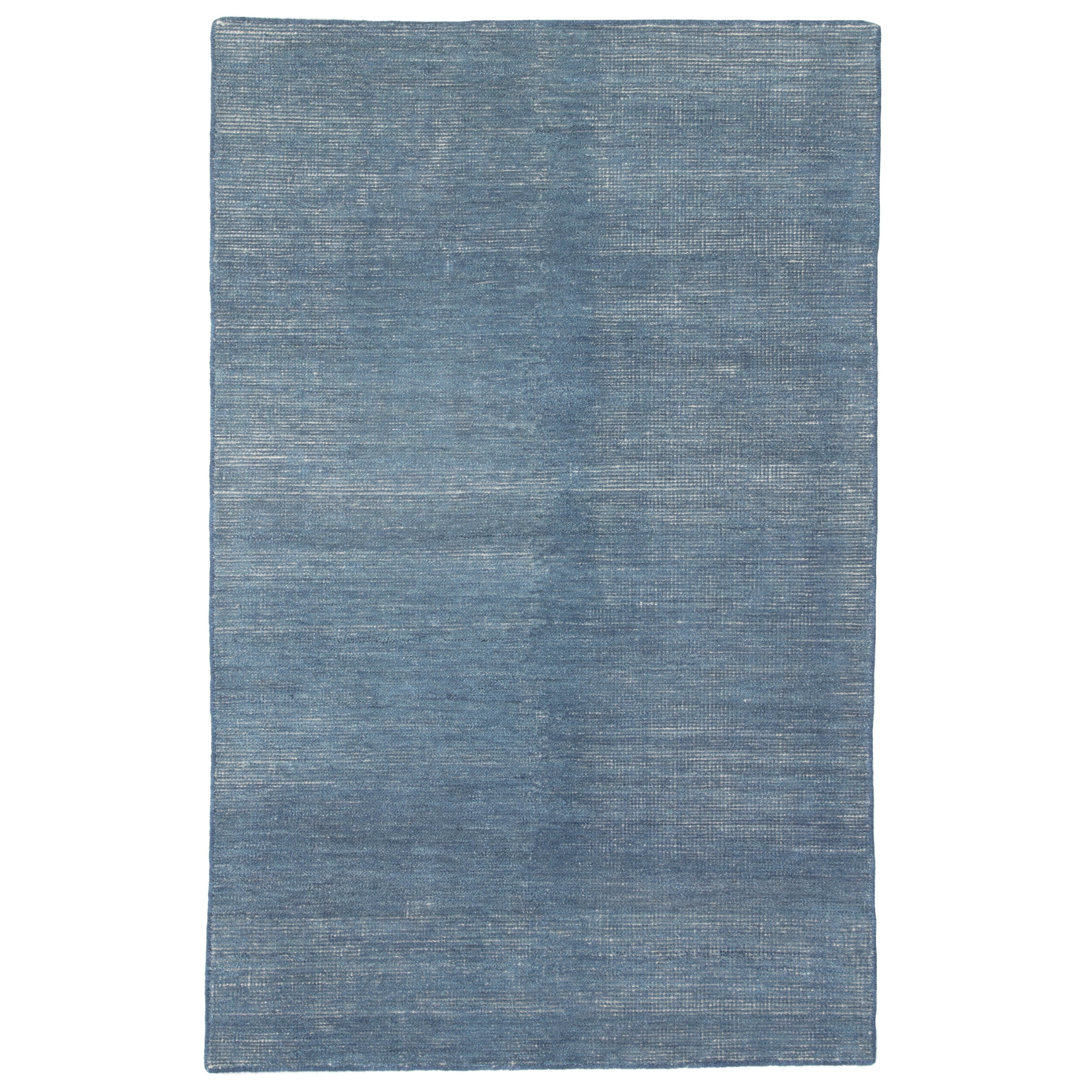 Hand Knotted Solid Blue Area Rug 8 X 10 7 10 X 9 10 Overstock 11351023