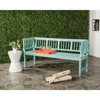 Safavieh Brentwood Outdoor Oriental Blue/ Beige Bench