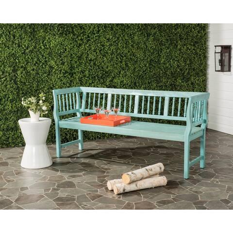 """Safavieh Brentwood Outdoor Oriental Blue/ Beige Bench - 68.1"""" x 20.1"""" x 31.5"""""""