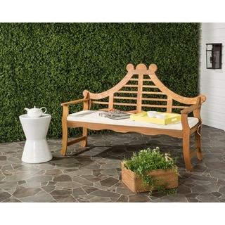 Safavieh Azusa Outdoor Teak Brown/ Beige Bench