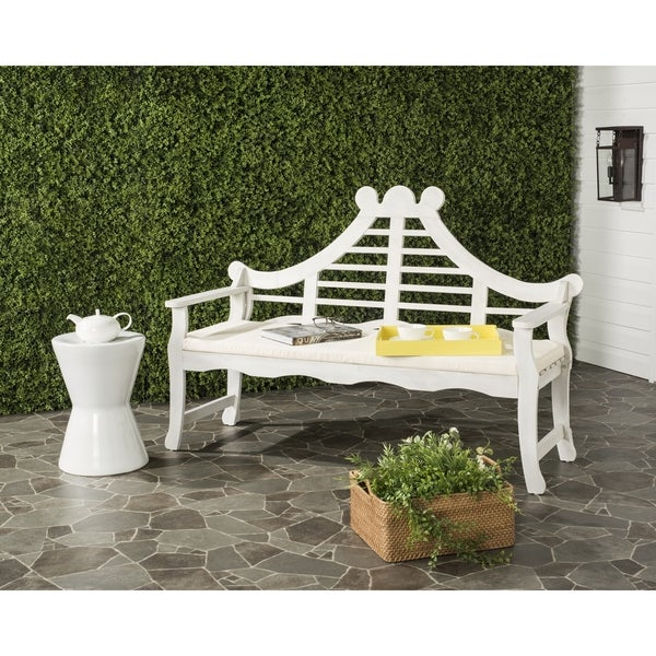 Safavieh Azusa Outdoor Antique/ White Bench by Safavieh