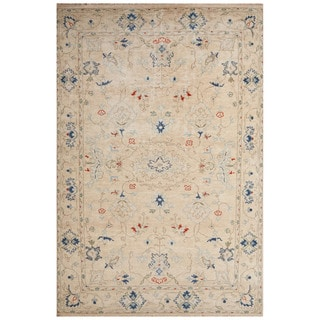 Hand-Knotted Oriental White Area Rug - 2' x 3'