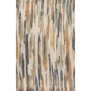 Handmade Abstract White Area Rug (2' X 3')