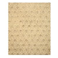 Hand-tufted Wool & Viscose Ivory Transitional Trellis Montego Rug (5' x 8')