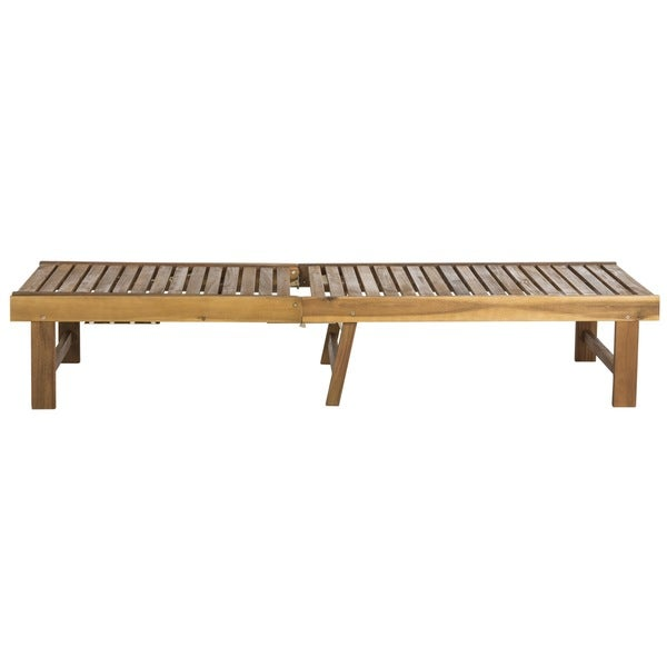Teak Chaise Lounge Chairs safavieh inglewood outdoor teak brown/ navy chaise lounge chair