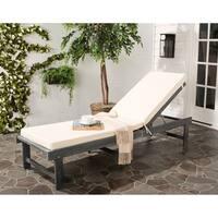 Safavieh Inglewood Outdoor Ash Grey/ Beige Chaise Lounge Chair
