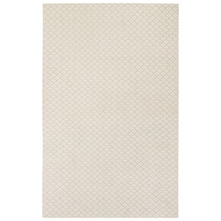 Naturals Tribal Pattern Natural/Ivory Wool and Viscose Area Rug (8x10)