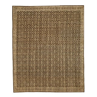 Hand-knotted Wool Brown Transitional Oriental Kotan Rug (8' x 10')