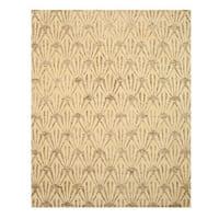 Hand-tufted Wool & Viscose Ivory Transitional Trellis Montego Rug - 7'9 x 9'9