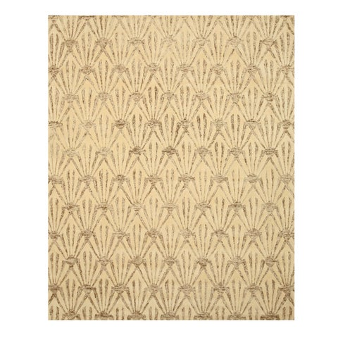 "Hand-tufted Wool & Viscose Ivory Transitional Trellis Montego Rug (8'9 x 11'9) - 8'9"" x 11'9"""