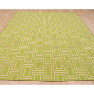 Green Contemporary Geometric Brandon Rug (5'3 x 7'3)