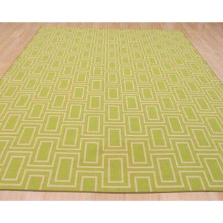 Green Contemporary Geometric Brandon Rug (7'10 x 9'10)
