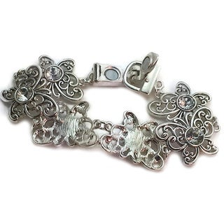 Mama Designs Handmade Link Butterfly Silver Magnetic Bracelet