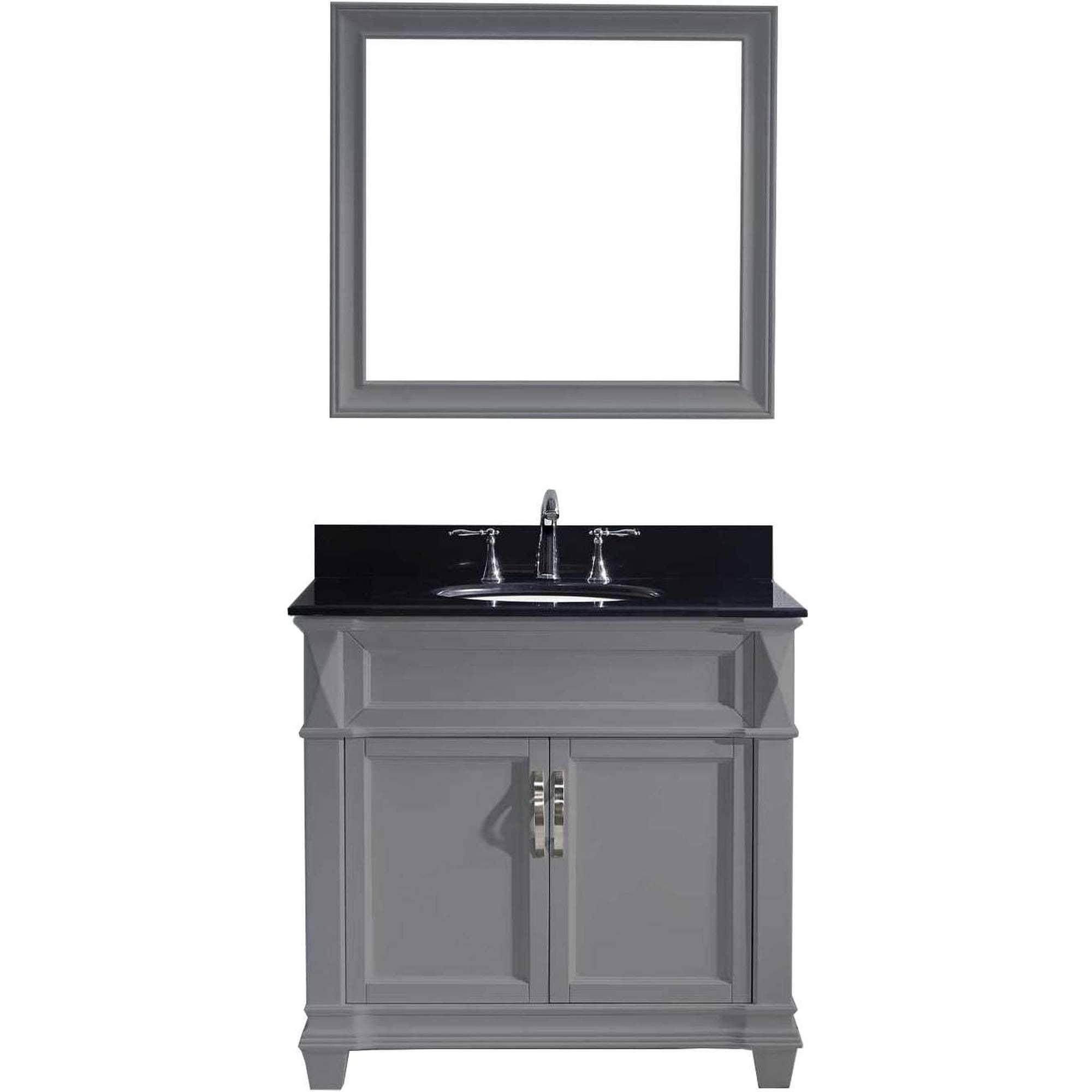 Victoria 36 Inch Single Vanity Black Granite Top