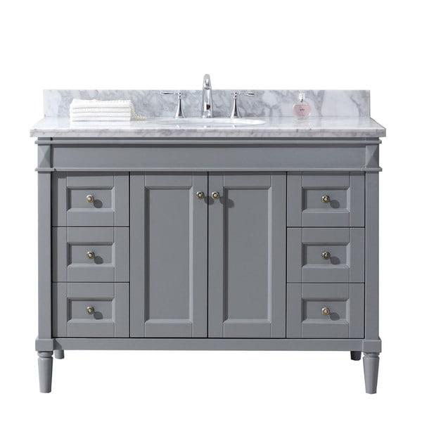 Shop Virtu USA Tiffany 48-inch Single Bathroom Vanity ...