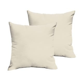 Sloane Ivory 18 x 18-inch Indoor/ Outdoor Knife Edge Pillow Set