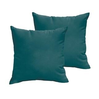 Sloane Teal 18 x 18-inch Indoor/ Outdoor Knife Edge Pillow Set