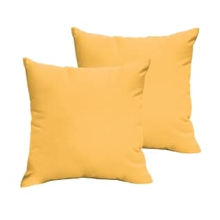 Sloane Butter Yellow 18 x 18-inch Indoor/ Outdoor Knife Edge Pillow Set