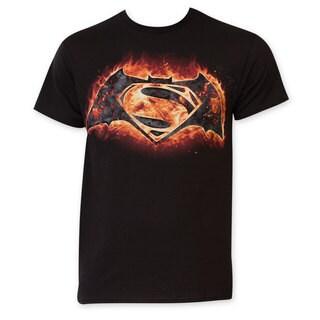 Batman vs. Superman Flames Logo T-Shirt