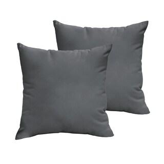 Sloane Charcoal Grey 20 x 20-inch Indoor/ Outdoor Knife Edge Pillow Set