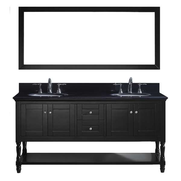 Bon Virtu USA Julianna 72 Inch Double Bathroom Vanity Cabinet Set In Espresso
