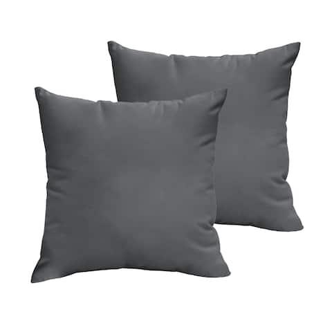 Sloane Charcoal Grey 22 x 22-inch Indoor/ Outdoor Knife Edge Pillow Set