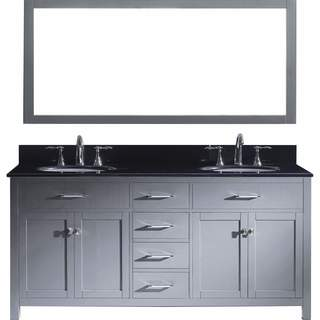 Virtu USA Caroline 72-inch Double Bathroom Vanity Cabinet Set in Espresso