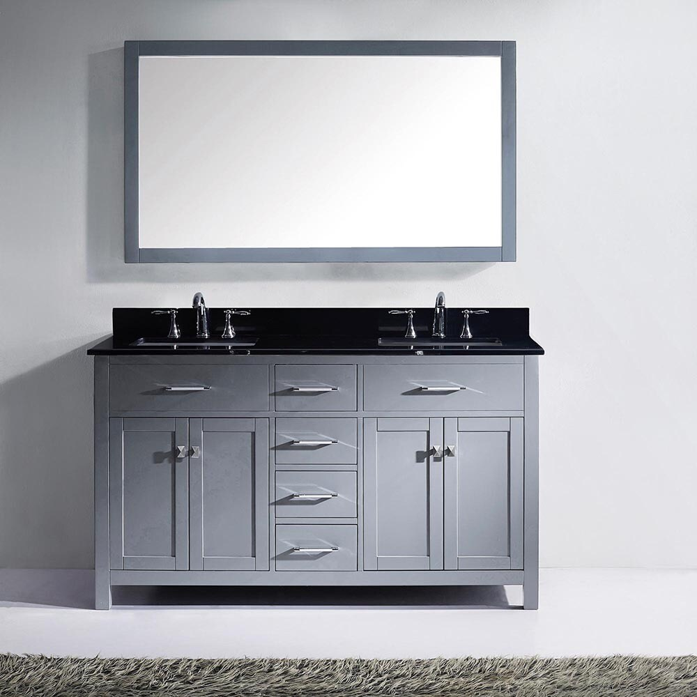 Virtu Usa Caroline 72 Inch Carrara White Marble Double Bathroom