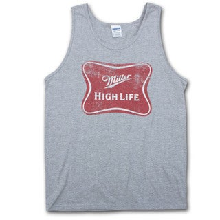Miller High Life Logo Heather Grey Men's Tank Top