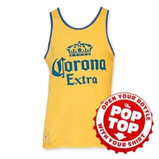 Corona Extra Men's Yellow Pop Top Tank Top
