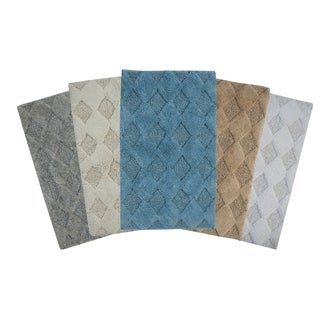 Saffron Fabs Cotton Geometric Pattern Bath Rug (More options available)
