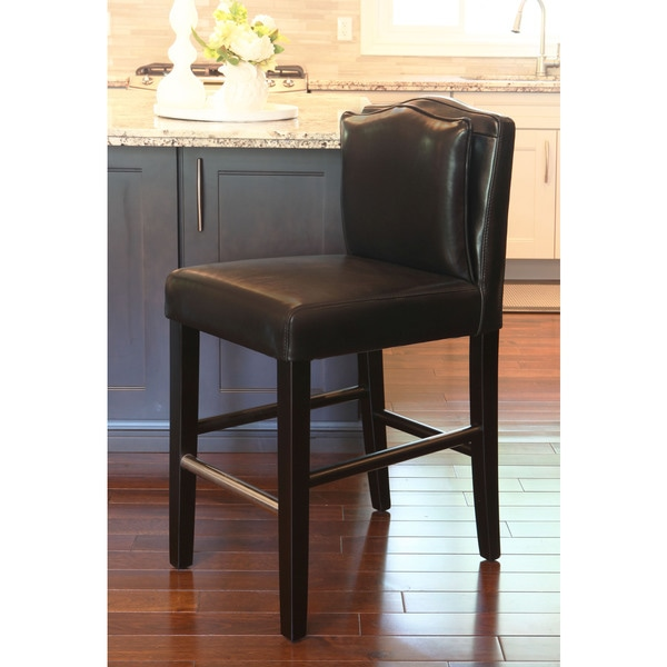 Hd Couture Pillowback Black Leather Counterstool Free