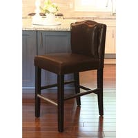 HD Couture Pillowback Brown Leather Counterstool
