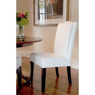 HD Couture White Leather Pillow Back Chair