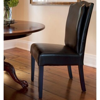HD Couture Black Leather Pillow Back Chair