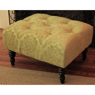 HD Couture Swansea Chartreuse St. Honore Ottoman