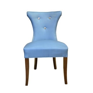 HD Couture Blue Faux Silk 2-pack Cosmo Diamond Tufted Chair