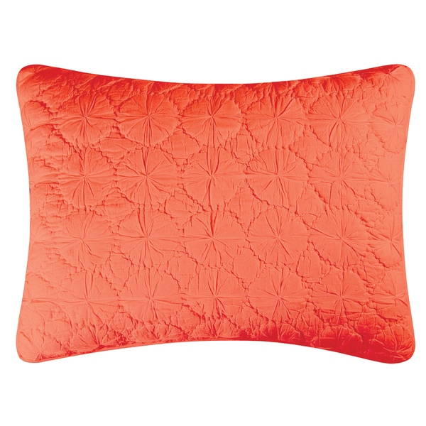 Coral Mara Cotton Standard or Euro Sham