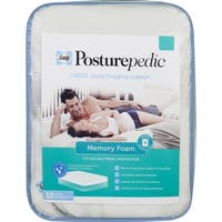 Sealy Posturepedic Memory Foam Fitted Mattress Protector - White