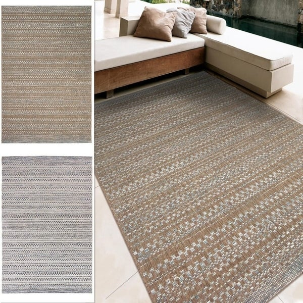 Carolina Weavers Boardwalk Collection Celestial Beige Area Rug (7'7 x 10'10) - 7'7 x 10'10