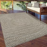 Carolina Weavers Boardwalk Collection Azure Swirl Gray Area Rug - 7'7 x 10'10
