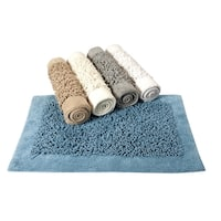 Saffron Fabs Cotton and Chenille Noodle Bath Rug
